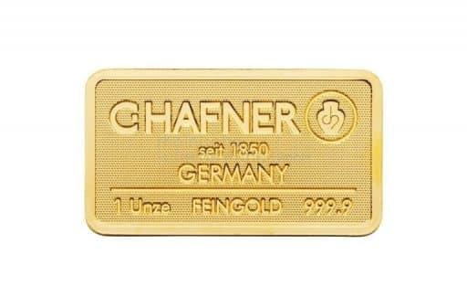 C.HAFNER 1 Unze Goldbarren