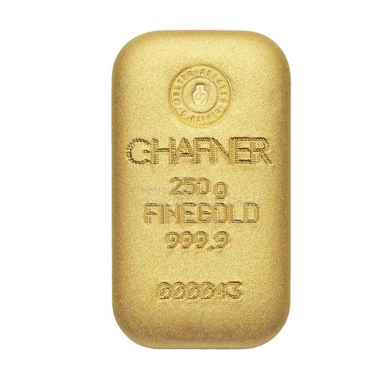 250 Gramm Gold Goldbarren Rückseite