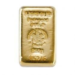 250 g Goldbarren Heraeus