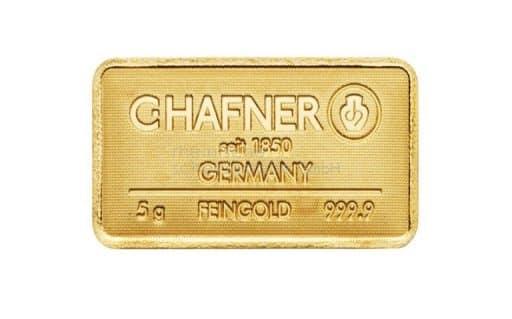 5 g Goldbarren C.HAFNER Feingold