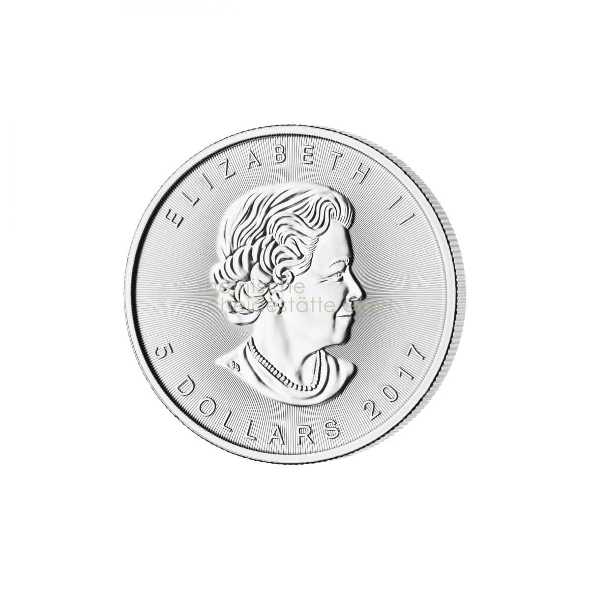 Maple Leaf Silber Silbermünzen Rückseite