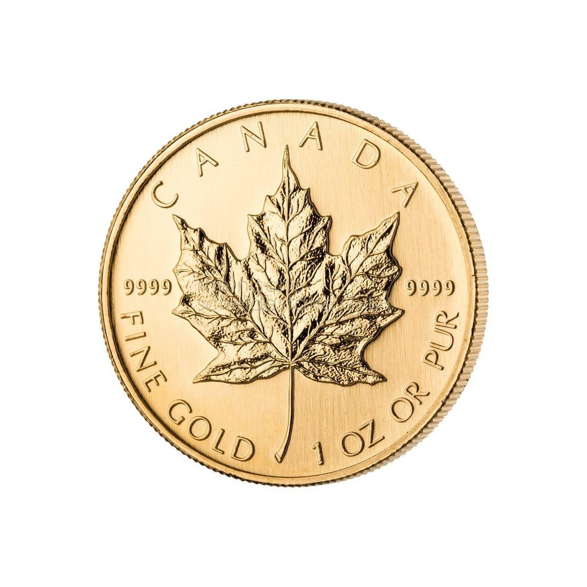Maple Leaf Gold Goldmünzen Vorderseite