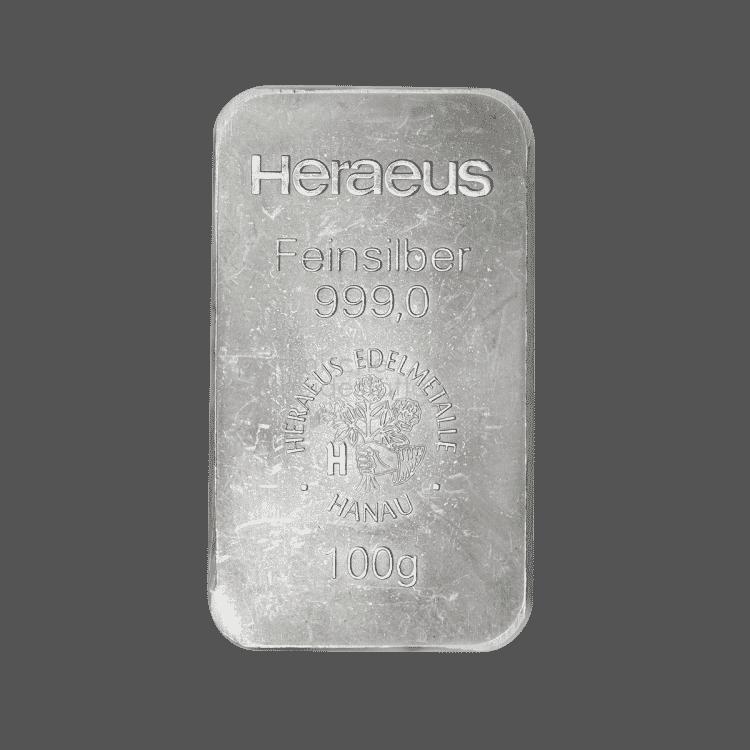 100g Heraeus Feinsilber 999,0