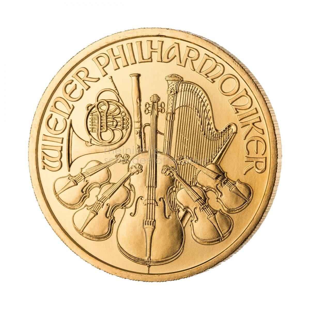 Wiener Philharmoniker Gold Goldmünzen Vorderseite
