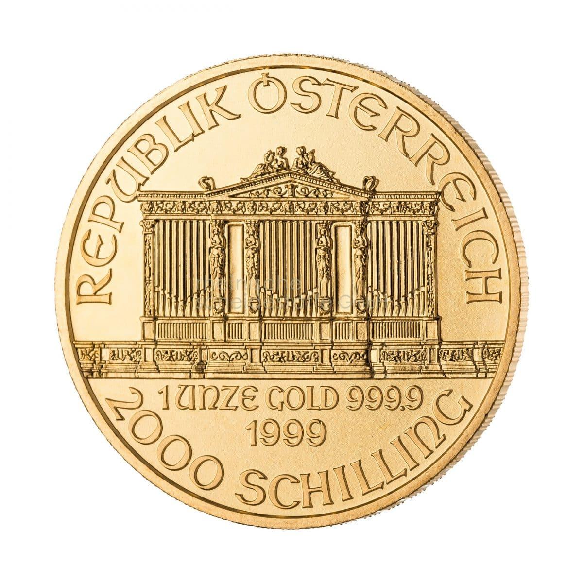 Wiener Philharmoniker Gold Goldmünzen Rückseite