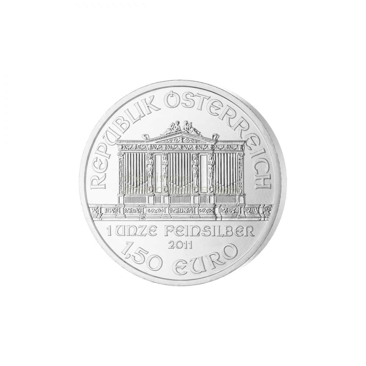 Wiener Philharmoniker Silber Silbermünzen Rückseite