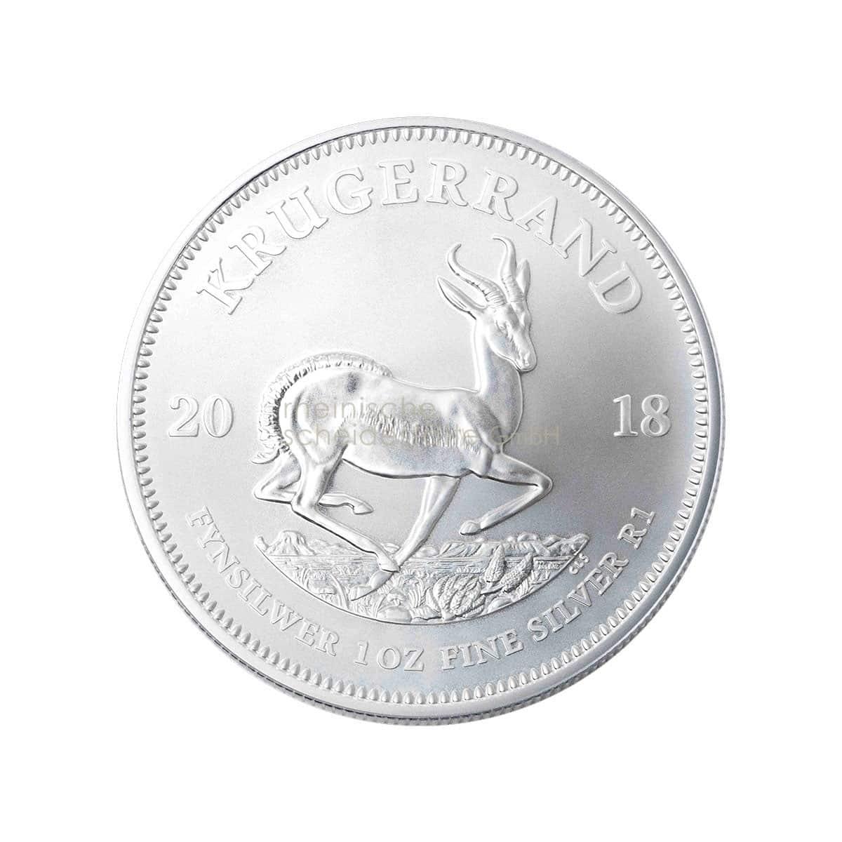 Krügerrand Silber Silbermünzen Vorderseite