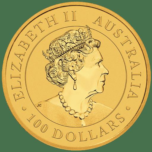 1 Unze Australian Gold Nugget Hand Of Faith Rückseite