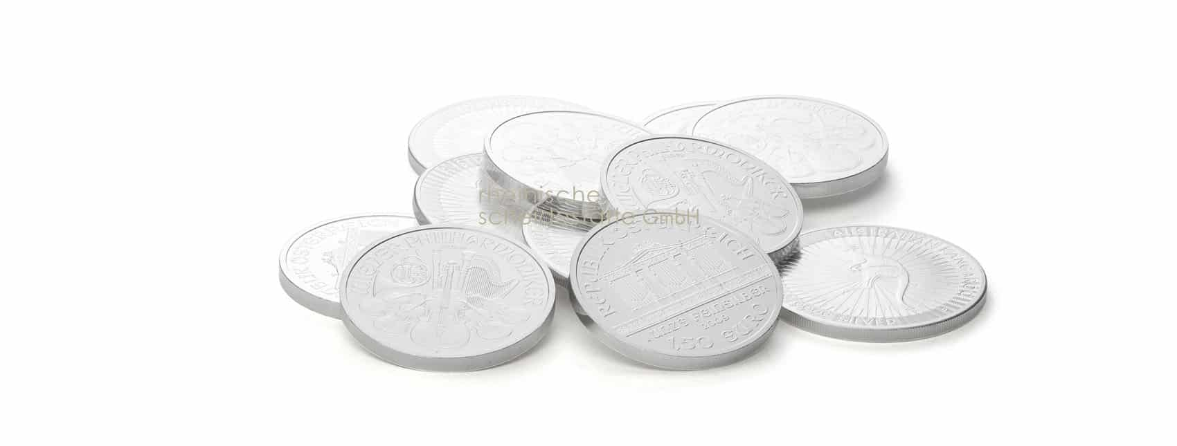 Silbermünzen Vergleich