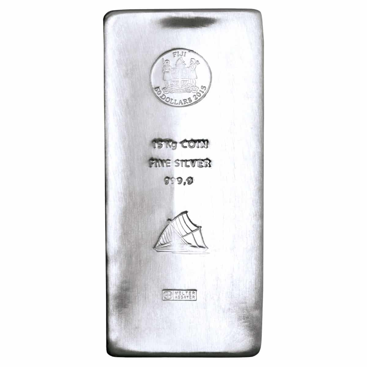 15 kg Silber Silberbarren Vorderseite