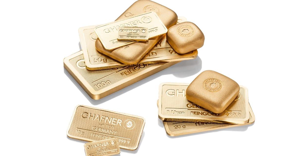 Goldbarren verkaufen Handel