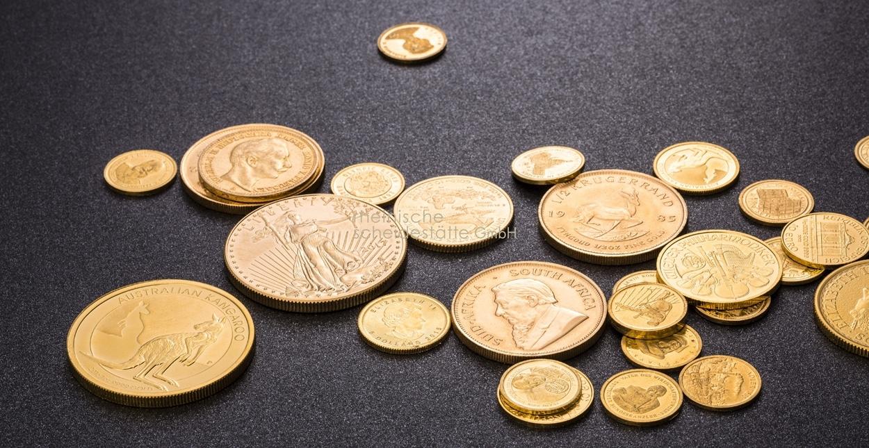 Goldmünzen verkaufen Händler