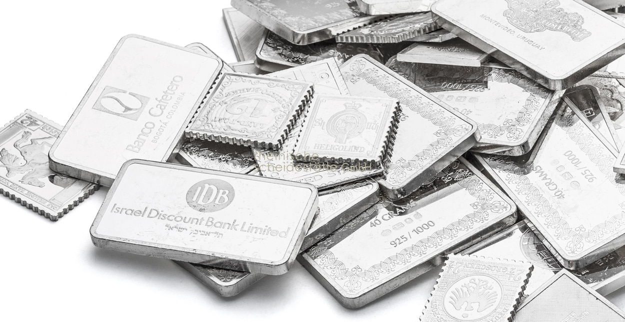 Silberbarren verkaufen Grössen