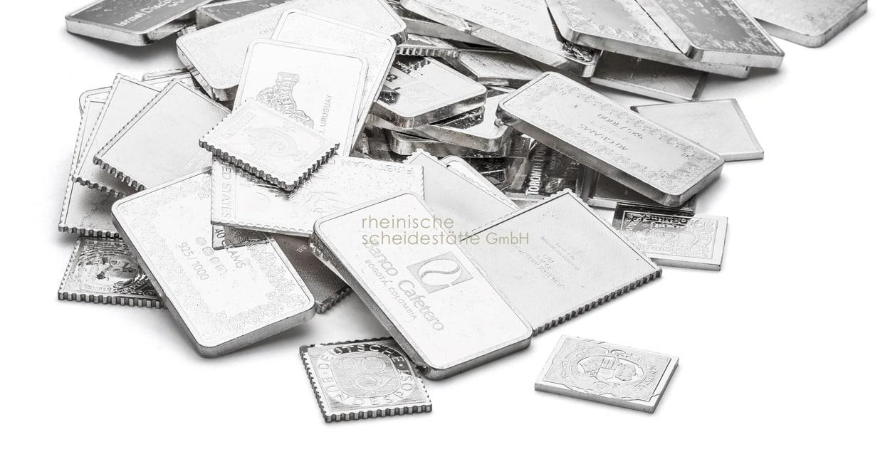 Silberbarren verkaufen Handel