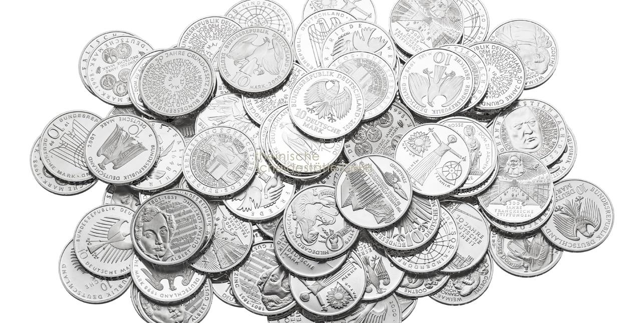 Silbermünzen verkaufen Preise