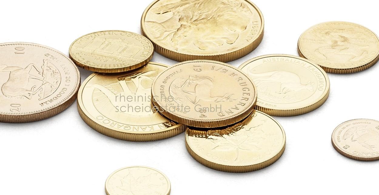 Goldmünzen kaufen Frankfurt - Rheinische Scheidestätte GmbH