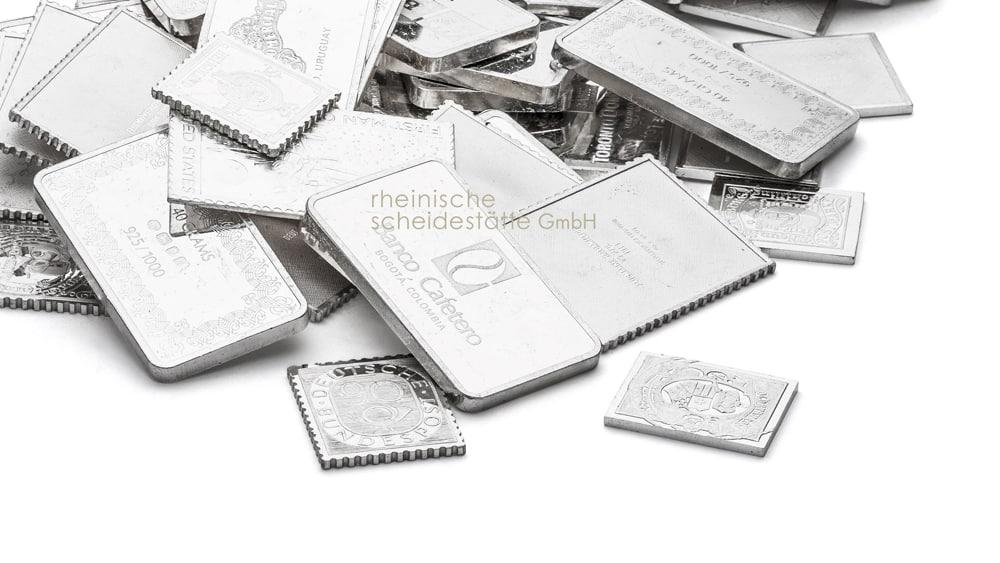 Silberbarren kaufen Köln Foto