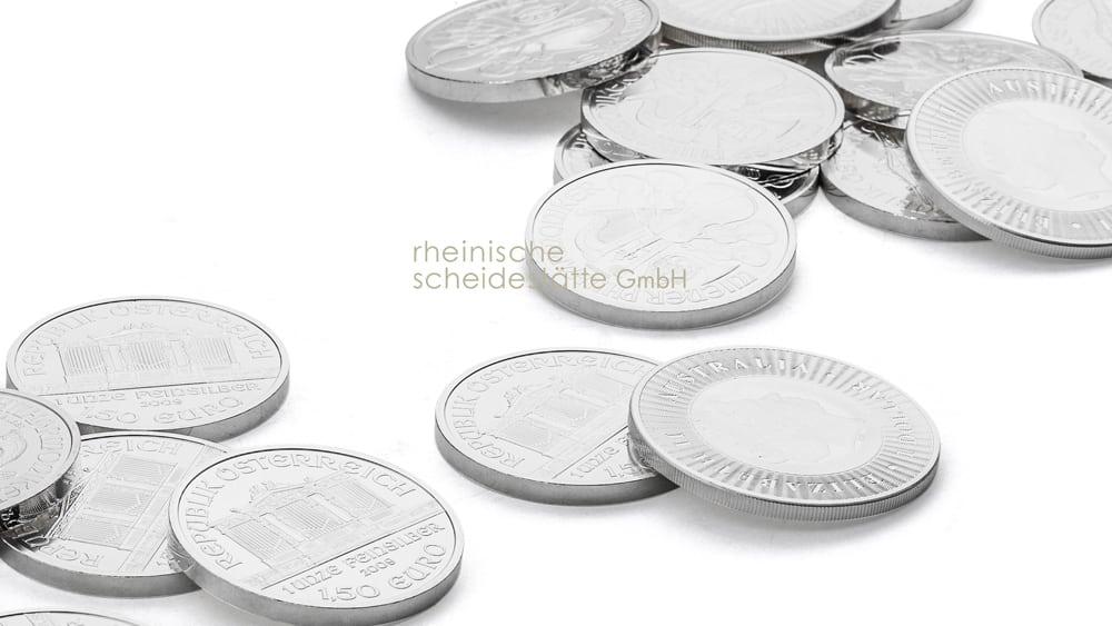 Silbermünzen kaufen Düsseldorf Foto
