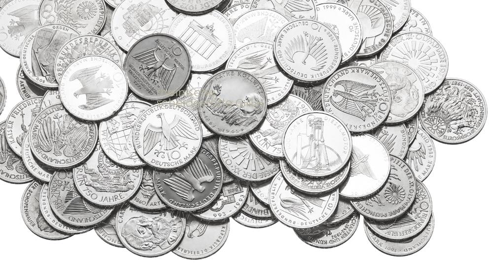 Silbermünzen kaufen Trier Foto